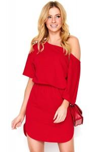 Mini sukienka czerwona M475