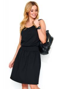 Sukienka czarna na ramiączkach M479