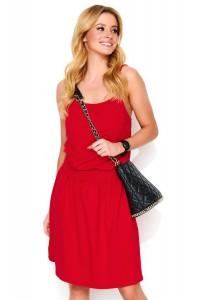 Sukienka czerwona na ramiączkach M479