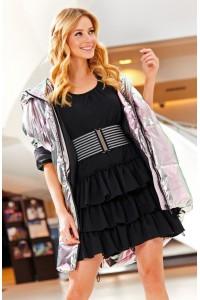Sukienka czarna z falbanami M482