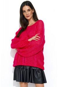 Sweter fuksja z warkoczami NU_S47