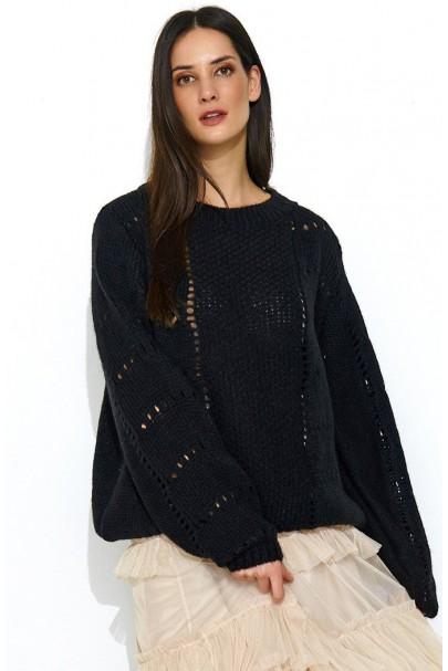 Sweter czarny NU_S48