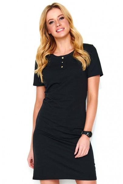 Sukienka czarna z guzikami...