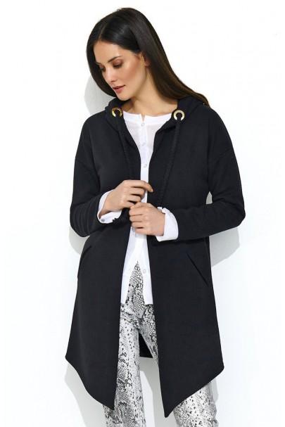 Bluza czarna z kapturem NU165