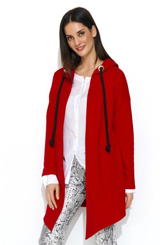 Bluza czerwona z kapturem...