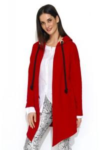 Bluza czerwona z kapturem NU165