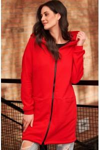 Bluza czerwona z kapturem NU166
