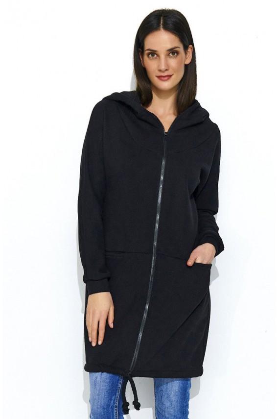 Bluza czarna z kapturem NU166