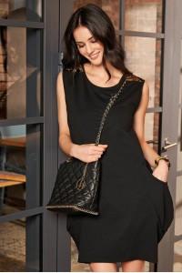 Sukienka bombka czarna NU174