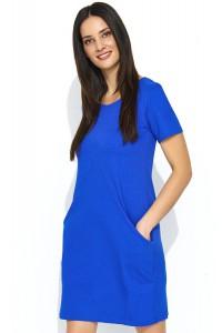 Sukienka chabrowa z kieszeniami NU175