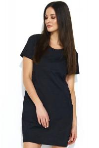 Sukienka czarna z kieszeniami NU175