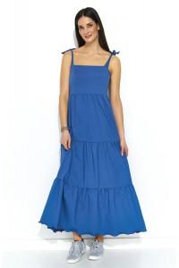 Sukienka na ramiączkach jeans NU170