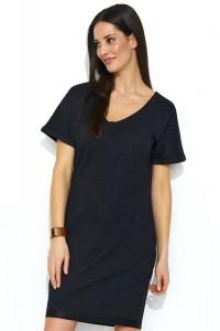 Sukienka czarna z kieszeniami NU177