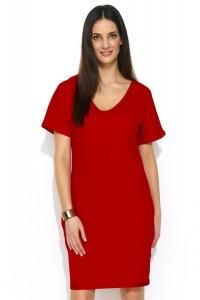 Sukienka czerwona z kieszeniami NU177