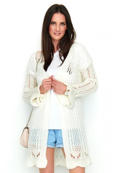 Ażurkowy sweter ecru NU_S49