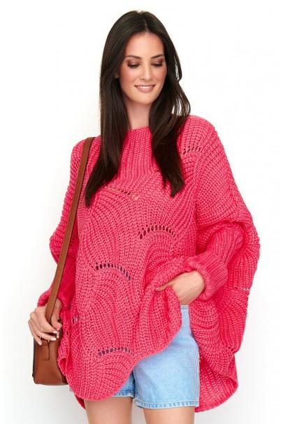 Ażurowy sweter arbuzowy NU_S51