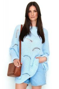 Ażurowy sweter błękitny NU_S51