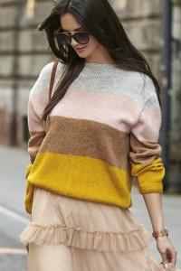Sweter w kolorowe pasy NU_S52
