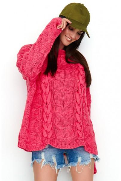 Sweter arbuzowy z...