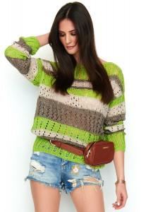 Sweter kolorowy ażurkowy NU_S58