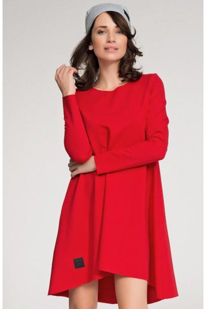 Sukienka czerwona trapezowa...