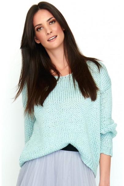 Klasyczny sweter błękitny...