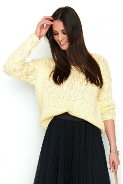 Klasyczny sweter lemon NU_S60