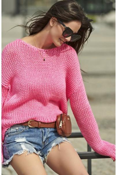 Klasyczny sweter fuksja NU_S60