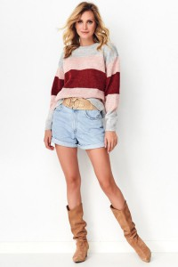 Sweter trójkolorowy S86