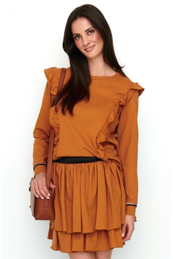 Dresowy komplet camelowy NU193