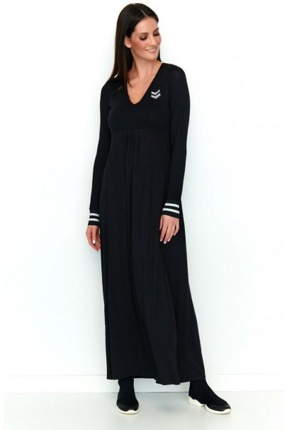 Sukienka czarna z aplikacją...