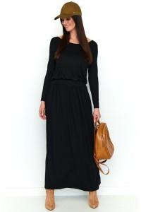 Maxi sukienka czarna NU199