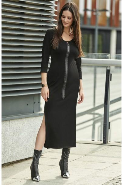 Sukienka czarna z suwakiem...