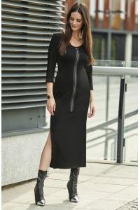 Sukienka czarna z suwakiem NU201