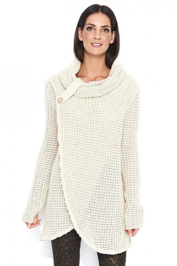 Sweter beżowy z golfem NU_S43