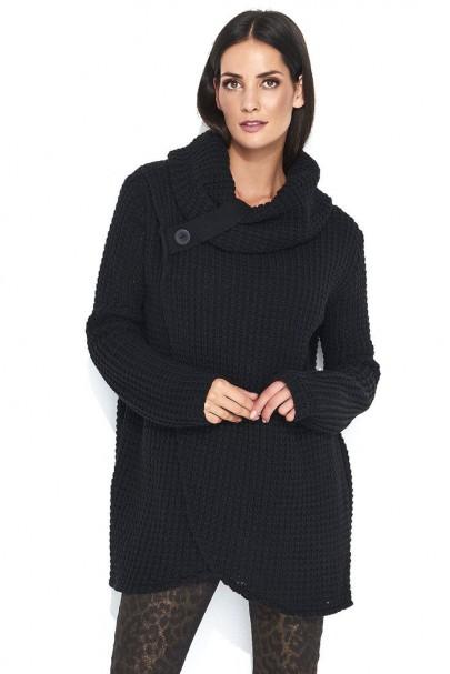 Sweter czarny z golfem NU_S43