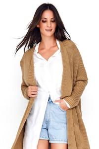 Sweter kardigan orzechowy NU_S64