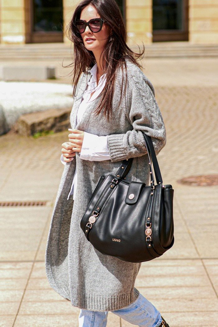 Sweter kardigan szary NU_S65