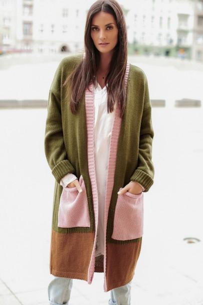 Trójkolorowy sweter...
