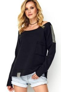 Bluza czarna ze zdobieniem M486