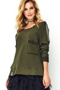 Bluza khaki ze zdobieniem M486