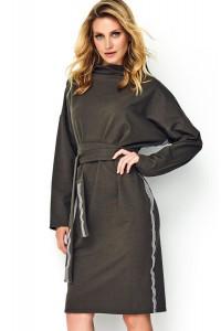 Sukienka khaki z wiązaniem M493