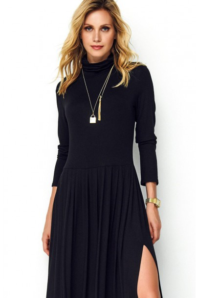 Długa sukienka czarna z...