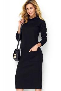 Sukienka czarna z kieszeniami M505