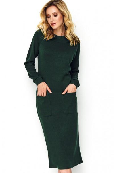 Sukienka butelkowa zieleń z...