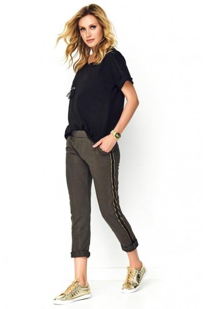Spodnie khaki z lampasami M508