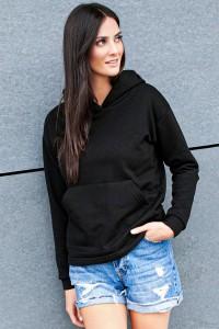 Bluza czarna kangurka z kapturem NU209