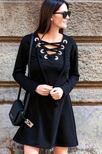 Sukienka czarna ze...