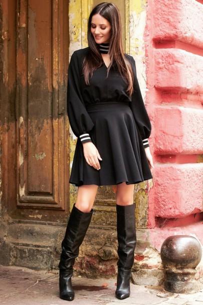 Czarna sukienka NU225