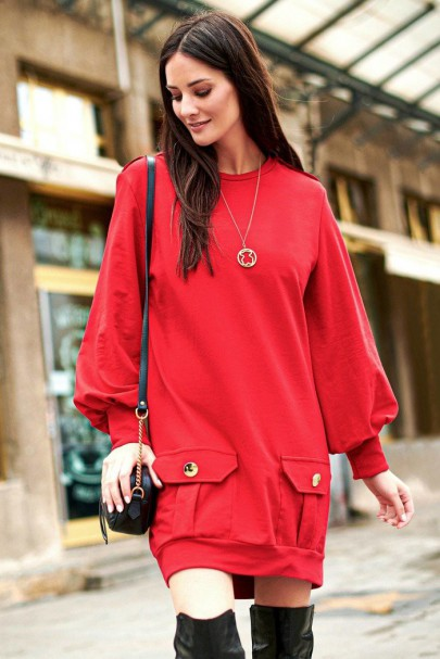 Sukienka czerwona NU220